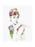 Audrey Hepburn 2 Kunst på metal af  NaxArt