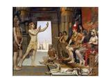 Joseph Interpreting Pharaoh's Dream Metal Print by Reginald Arthur