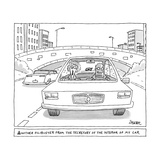 """""""Another Filibuster from the Secretary of the Interior of My Car."""" - New Yorker Cartoon Premium Giclee Print by Jack Ziegler"""