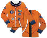 Toddler Long Sleeve:  Astronaut Space Suit Costume Tee (Front/Back) T-Shirt
