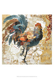 Rooster Flair I Prints by Evelia Designs
