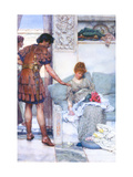 A Quiet Greeting Metal Print by Sir Lawrence Alma-Tadema