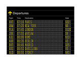 Airport Departures Board Metal Print by  z_i_b_i