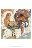 Rooster Flair II Poster by Evelia Designs