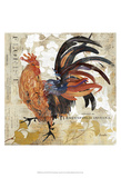 Rooster Flair III Prints by Evelia Designs