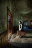 Male Figure in Abandoned Building Photographic Print by Nathan Wright