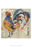 Rooster Flair IV Print by Evelia Designs
