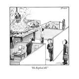 """He Replied All."" - New Yorker Cartoon Premium Giclee Print by Harry Bliss"