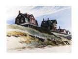 Cottages de Wellfleet Reproduction sur métal par Edward Hopper