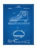 Hockey Shoe Patent Metal Print