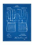 Hockey Glove Patent Metal Print