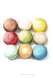 9 Macarons Poster by  Redstreake