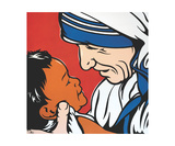 Mother Teresa With Child Photographic Print by Jamie Lee