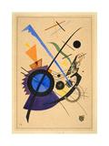 Blau in Violett, or Blue in Violet, 1923 Metal Print by Wassily Kandinsky