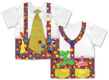 Clown With Big Tie Costume Tee (Front/Back) T-Shirts