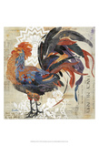 Rooster Flair V Prints by Evelia Designs