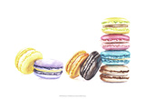 8 Macarons Prints by  Redstreake