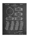 Hockey Puck Patent Metal Print