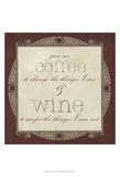 Inspired Wine I Prints by  Vision Studio