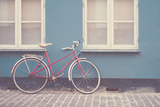 Red Bike in Denmark Photographic Print by Laura Evans