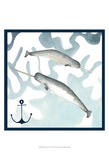 Whale Composition II Posters by Megan Meagher