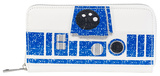 Star Wars R2D2 Glitter Zip Wallet Wallet