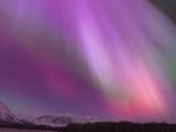 Aurora Borealis, Wrangell Mountains, Alaska, USA Reproduction sur métal par Hugh Rose