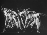 Stroboscopic Image of Dancer Ethel Butler of the Martha Graham Dance Group Performing Metal Print by Gjon Mili