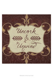 Inspired Wine V Prints by  Vision Studio