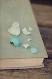 Broken Eggs on a Book Photographic Print by Elizabeth Urqhurt