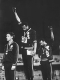 Black Power Salute, 1968 Mexico City Olympics Kunst på metall av John Dominis