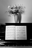 Sheet Music on Piano Photographic Print by Bernardo Bonnefon