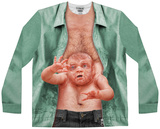Long Sleeve Stomach Baby Costume Tee (Front/Back) T-Shirts