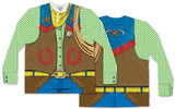 Long Sleeve Toy Cowboy Costume Tee (Front/Back) T-Shirts