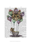 Cheshire Cat Hot Air Balloon Prints by  Fab Funky