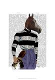 Horse Racing Jockey Portrait Prints by  Fab Funky