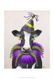 Mardi Gras Cow Posters by  Fab Funky