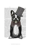 Monsieur Bulldog Prints by  Fab Funky