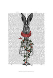 Strawberry Hare Poster by  Fab Funky