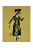 Goose in Green Regency Coat Poster by  Fab Funky