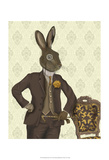 Dapper Hare Poster by  Fab Funky