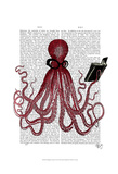Intelligent Octopus Art by  Fab Funky