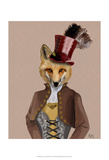Vivienne Steampunk Fox Posters by  Fab Funky