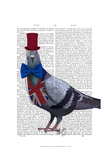London Pigeon Posters by  Fab Funky
