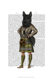 Scottish Terrier in Kilt Prints by  Fab Funky
