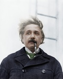 Albert Einstein Theoretical Physicist (1879-1955) Smoking a Pipe Photo