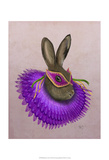 Mardi Gras Hare Prints by  Fab Funky