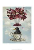 Blackbird In Teacup Posters par  Fab Funky