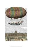 Jardin De Tuileries Hot Air Balloon Prints by  Fab Funky