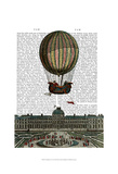Airship Over City Prints by  Fab Funky